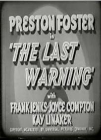 O Último Aviso (1938)